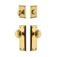 Grandeur Door Hardware - Fifth Avenue - Fifth Avenue Plate With Circulaire Knob & Matching Deadbolt In Satin Nickel