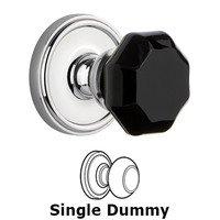 Grandeur Door Hardware - Georgetown - Privacy - Georgetown Rosette with Black Lyon Crystal Knob in Satin Nickel