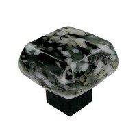 "Grace White Glass Hardware - Shades of Black and White - 1 1/4"" Glanite Knob"