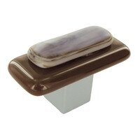 Grace White Glass Hardware - Earthtones - Kensington Knob