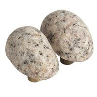 Michigan Naturals - Winter Morning Stone - Symmetrical Medium Perfect Pair Knobs in Winter Morning