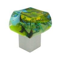 "Grace White Glass Hardware - Pastels - 1 1/4"" Springtime Knob"