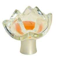 "Grace White Glass Hardware - Specialty - 1 3/4"" Tulip Tangerine Knob"