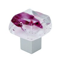 "Grace White Glass Hardware - Pastels - 1 3/8"" Valentine Ice Knob"