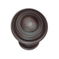 "Hafele Hardware - Classics - 1 1/8"" Diameter Knob in Oil Rubbed Bronze Zinc"