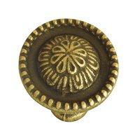 """Hafele Hardware - Classico - 1"""" Diameter Knob in Rustic Brass"""