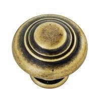 """Hafele Hardware - Rustico - 1"""" Diameter Knob in Antique Brass"""