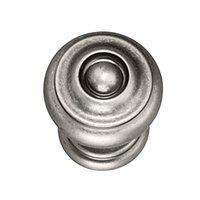 """Hafele Hardware - Somerset - 1 3/8"""" Diameter Knob in Pewter"""