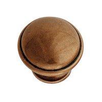 "Hafele Hardware - Luna - 1 3/8"" Diameter Knob in Copper"