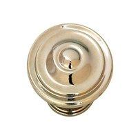 "Hafele Hardware - Havana - 1 3/8"" Diameter Knob in Polished Nickel"