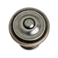 "Hafele Hardware - Havana - 1 3/8"" Diameter Knob in Antique Pewter / Copper"