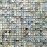 "HotGlass - Bohemia - 5/8"" x 5/8"" Glass Tile in Sargasso Sea 12 7/8"" x 12 7/8"" Paper Faced Sheets"