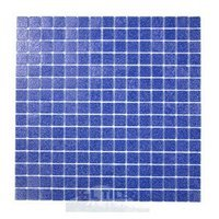 "HotGlass - Cartglass Classic - 3/4"" Glass Tile in Deep Blue 12 7/8"" x 12 7/8"" Mesh Backed Sheet"