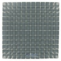 "HotGlass - Horizon - 1"" x 1"" Glass Tile in London Fog 11 5/8"" x 11 5/8"" Mesh Backed Sheet"