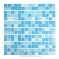 "HotGlass - Cartglass Classic - 3/4"" Glass Ice Blue Blend 12 7/8"" x 12 7/8"" Mesh Backed Sheet"