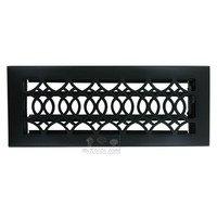 """Hamilton Sinkler - Strathmore Floor Registers - Solid Brass 4"""" x 12"""" Strathmore Floor Register with Louver in Black"""