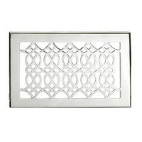 "Hamilton Sinkler - Strathmore Floor Registers - Solid Brass 6"" x 10"" Strathmore Floor Register with Louver in Polish Nickel"