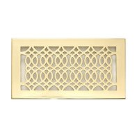 "Hamilton Sinkler - Strathmore Wall Registers - Solid Brass 6"" x 12"" Strathmore Wall Register with Louver in Polish Brass"