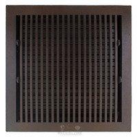 "Hamilton Sinkler - Flat Wall Registers - Solid Bronze 14"" x 14"" Flat Wall Register with Louver in Bronze Patina"