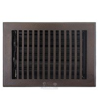 "Hamilton Sinkler - Flat Wall Registers - Solid Bronze 8"" x 8"" Flat Wall Register with Louver in Bronze Patina"