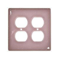 Hot Knobs - Solids Switchplates - Double Outlet Glass Switchplate in Dusty Lilac