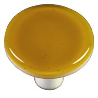 "Hot Knobs - Solids - 1 1/2"" Diameter Knob in Chartreuse Knob with Aluminum base"