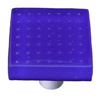 "Hot Knobs - Bubbles - 1 1/2"" Knob in Deep Cobalt Blue with Aluminum base"