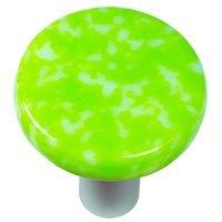 "Hot Knobs - Granite - 1 1/2"" Diameter Knob in Spring Green & White with Aluminum base"