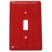 Hot Knobs - Solids Switchplates - Single Toggle Glass Switchplate in Brick Red