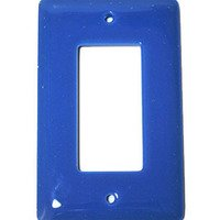 Hot Knobs - Solids Switchplates - Single Rocker Glass Switchplate in Egyptian Blue