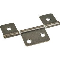 "Hardware Resources - Shutter Hardware - 3-1/2"" Three Leaf Non-mortise Hinge without Screws in Brushed Antique Brass"