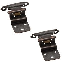 Hardware Resources - Builder Hardware - 3/8 Inset Hinge in Brushed Oil Rubbed Bronze (PAIR)