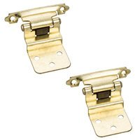 Hardware Resources - Builder Hardware - 3/8 Inset hinge 1 Pr. in Polished Brass (PAIR)
