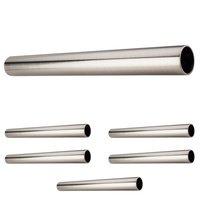 """Hardware Resources - Closet Hardware - (6 PACK) 1-5/16"""" Diameter x 8' Round Steel Closet Rod in Satin Nickel"""