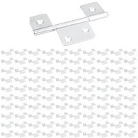"Hardware Resources - Shutter Hardware - (100 PACK) 3-1/2"" Three Leaf Non-mortise Hinge without Screws in Brushed Chrome"