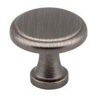 """Elements Hardware - Gatsby Cabinet Hardware - 1 1/8"""" Diameter Knob in Satin Nickel"""