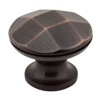 "Elements Hardware - Drake Cabinet Hardware - 1-1/4"" Diameter Geometric Cabinet Knob in Brushed Oil Rubbed Bronze"