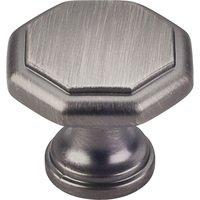 "Elements Hardware - Drake Cabinet Hardware - 1-3/16"" Geometric Cabinet Knob in Brushed Pewter"