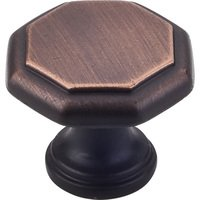 "Elements Hardware - Drake Cabinet Hardware - 1-3/16"" Geometric Cabinet Knob in Brushed Oil Rubbed Bronze"