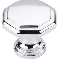 """Elements Hardware - Drake Cabinet Hardware - 1-3/16"""" Geometric Cabinet Knob in Polished Chrome"""