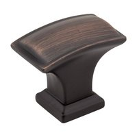 "Jeffrey Alexander - Annadale Cabinet Hardware - 1-1/2"" Pillow Cabinet Knob in Brushed Oil Rubbed Bronze"