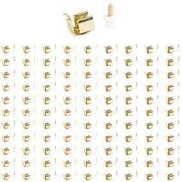 Hardware Resources - Shutter Hardware - (100 PACK) Button Catch in Polished Brass