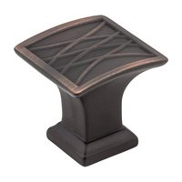 "Jeffrey Alexander - Aberdeen Cabinet Hardware - 1-1/4"" Lined Cabinet Knob in Brushed Oil Rubbed Bronze"