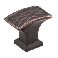 "Jeffrey Alexander - Aberdeen Cabinet Hardware - 1-1/2"" Lined Cabinet Knob in Brushed Oil Rubbed Bronze"