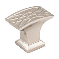 "Jeffrey Alexander - Aberdeen Cabinet Hardware - 1-1/2"" Lined Cabinet Knob in Satin Nickel"