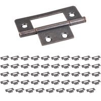 "Hardware Resources - Shutter Hardware - (50 PACK) 4 Hole 3"" Loose Pin Non-mortise Hinge in Dark Antique Copper Machined"