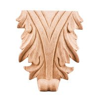 Hardware Resources - Onlays and Appliqués - Acanthus Traditional Applique in Cherry Wood