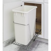 Hardware Resources - 11 Minute Organizers - 35 & 50 Quart Single Pullout Trash Can System in Polished Chrome