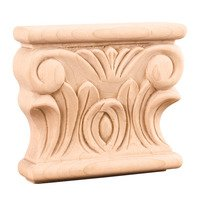 "Hardware Resources - Capitals - 3 1/2"" Acanthus Traditional Capital in Cherry Wood"