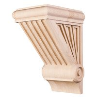 "Hardware Resources - Corbels and Bar Brackets - 10"" Starburst Art Deco Corbel in Hard Maple Wood"